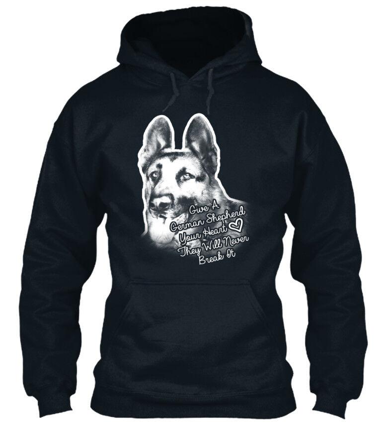 Give A German Shepherd Your Your Your Heart  - Heart They Will Standard College Hoodie  | Online Store  | Won hoch geschätzt und weithin vertraut im in- und Ausland vertraut  | Für Ihre Wahl  0db8a1