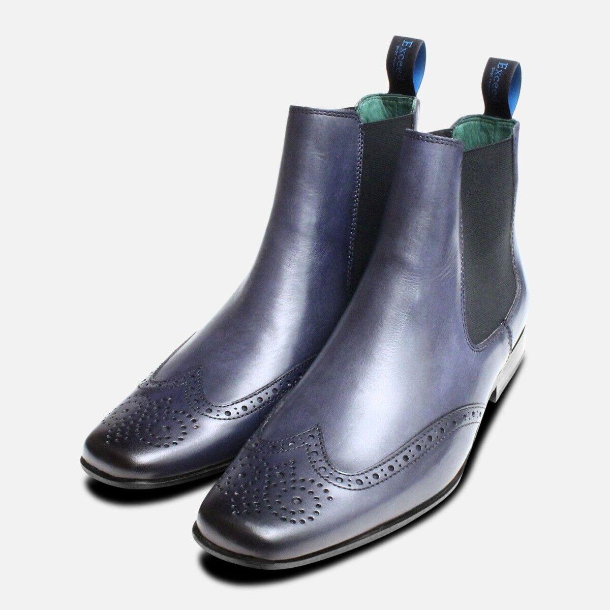 Bleu Marine Chelsea démarrage Chaussures par Exceed Chaussures
