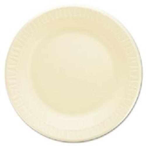Dart 10PHQR Laminated Foam Dinnerware, Plates, 10 1 4 , Honey, 125 pk, 4 Pks ctn