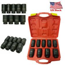 9PCS Drive Axle Nut Socket Set 29mm 30mm 31mm 32mm 33mm 34mm 35mm 36mm 38mm Hex Socket Set with Heavy Duty Storage Case Anbull 1//2 Inch Deep Impact Socket Set