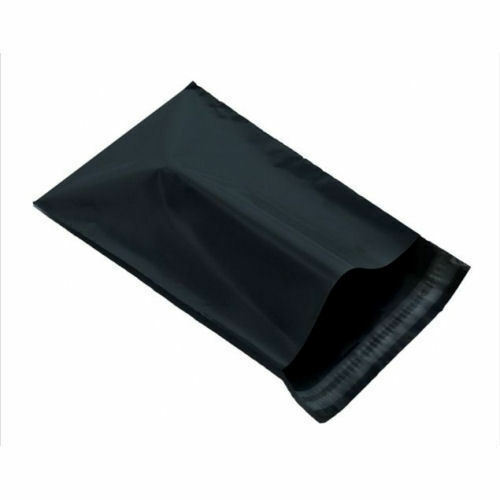 "25 BLACK Mailing Postage Parcel Post Bags 12/"" x 16/"" Self Seal Packaging 305x406"