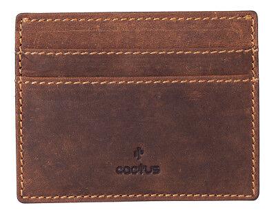 Mala Leather Tudor Tri Fold Borsetta Portafoglio con RFID Protezione in Tan