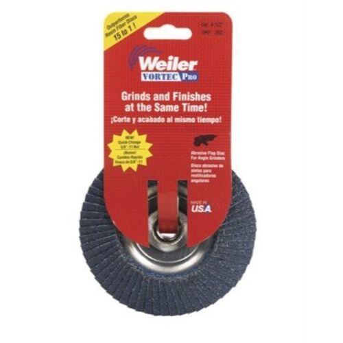 WEILER CORPORATION 30827 Vortex Pro Abrasive Nutted Flap Disc
