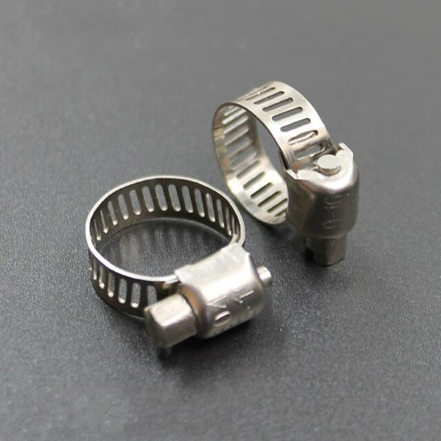 10Pcs Adjustable 304 Stainless Steel Hose Pipe Clip Clamp Bracket 6mm-254mm