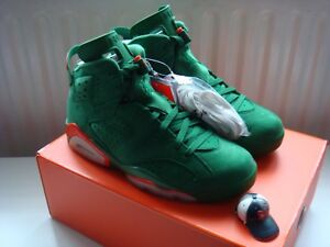 detailed look 820a6 2e63c Details about Nike Air Jordan VI 6 NRG Gatorade Green Suede US 8/UK 7 Be  Like Mike/Infrared