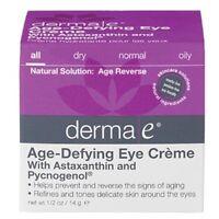 Derma E Age-defying Eye Creme With Astaxanthin And Pycnogenol - 0.5 Oz on sale