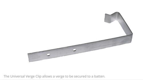 25 x Universal Verge Clips  Verge Fixing  Aluminium Verge Clips  Verge Clips