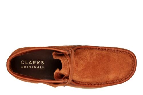 NEW MENS CLARKS ORIGINAL WALLABEE LIMITED EDITION TAN HAIRY SUEDE LEATHER SHOES