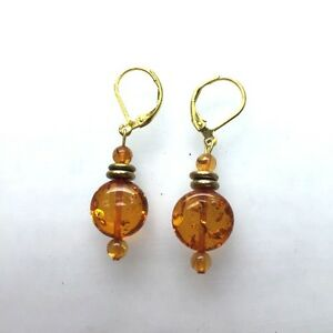 Handmade-Natural-Amber-Earrings-with-Gold-Plated-leverbacks