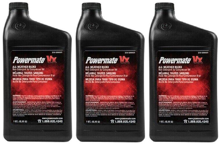 (3) ea Master Mechanic 018-0060TV Quart Non Detergent Air Compressor Oil