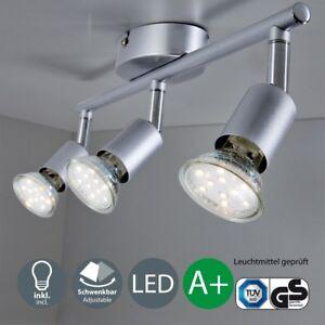LED Deckenleuchte Wohnzimmer GU10 Spot-Leuchte Decken-Lampe Büro 3 ...