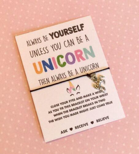 BUY 5 GET 1 FREE! Unicorn Wish String Bracelet UK Seller Fast Dispatch