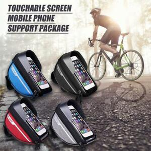 Waterproof-Cycling-Bike-Bicycle-Front-Frame-Pannier-Tube-Bag-For-Mobile-Phone