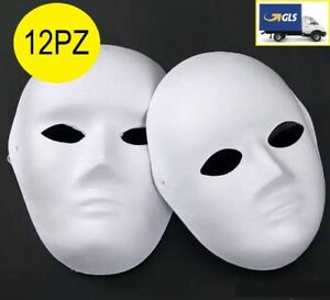 12PZ-x-MASCHERA-BIANCA-VISO-CARNEVALE-TEATRALE-TEATRO-DANZA-HALLOWEEN-UOMO-DONNA