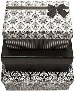 Alef Elegant Decorative Themed Nesting Gift Boxes -3 Boxes ...