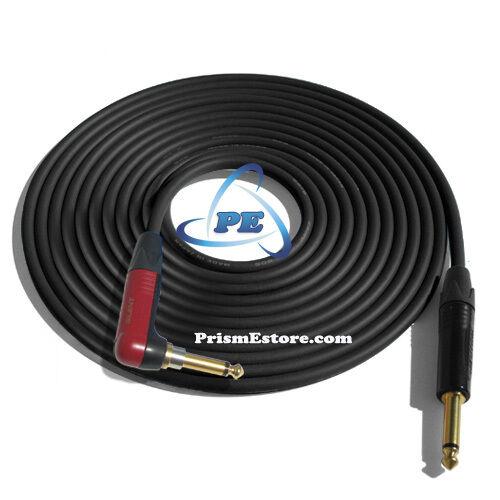 15/' Mogami W2524 Guitar Black Cable w//Neutrik Silent Plug NP2RX-AU ¼ /<-/> NP2X-B