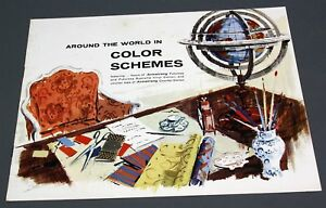 1960 ARMSTRONG TILE FLOOR ADVERTISING BROCHURE AROUND THE WORLD IN COLOR SCHEMES