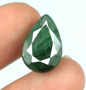 4.95 Ct Colombian Emerald Natural Gemstone 14 x 9 mm Pear Cut Certified A57744