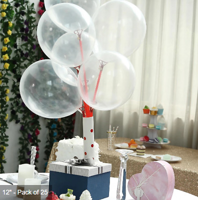 1-200 Balloons Pearl Pastel Metallic Confetti Filled Latex Air Or Helium
