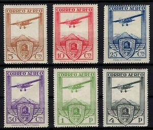 P133307-SPAIN-AIRMAIL-EDIFIL-483-488-COMPLETE-MINT-MH-CV-255