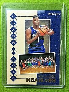 ZION-WILLIAMSON-ROOKIE-CARD-JERSEY-1-PELICANS-RC-2019-20-Hoops-WINTER-GOLD-FOIL
