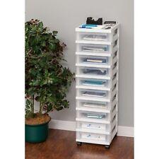 IRIS 10 Drawer Craft Sewing Supplies Storage Storage Cart With Organizer  Top,