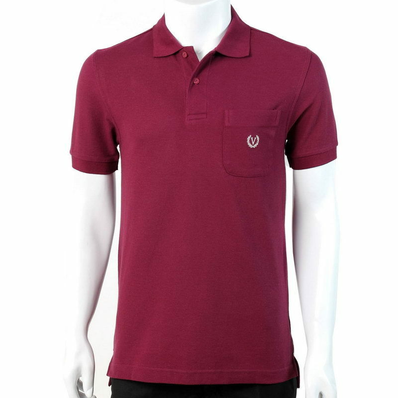 NEW 100% Cotton Knit Men Polo Shirt Maroon Red