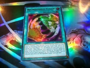 LDS1-EN049 Green Ultra Rare 1st Ed YuGiOh NEW Relinquished Fusion