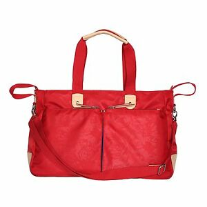baby diaper nappy backpack changing bag mummy tote handbag shoulder bag red ebay. Black Bedroom Furniture Sets. Home Design Ideas