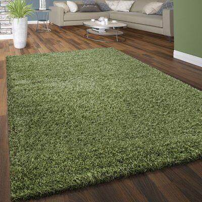 Shaggy Rug Olive Green Fluffy Bedroom