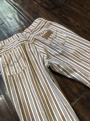 Vintage 70s Wrangler Striped Flared Bell Bottoms P