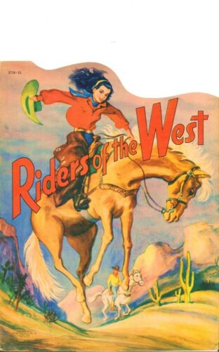 VINTGE 1950S RIDERS WEST PAPER DOLLS HD LASER REPRO~LO PRICE~HI QUAL~TOP SELLR