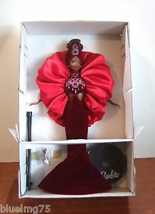 Rubis Radiance Barbie Bijou Collection Essence Bob Mackie 1996 Nrfb Mib (z132)