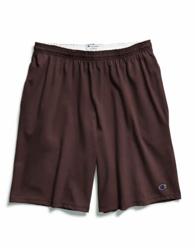 Champion Mens Authentic Cotton Jersey 9-Inch Shorts with Pockets