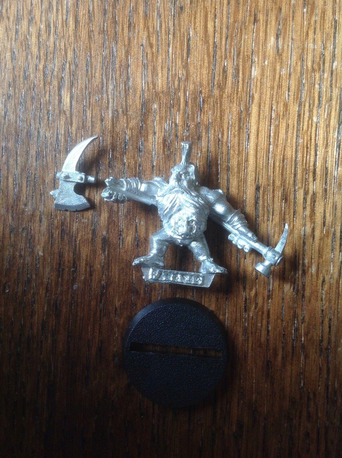 Warhammer. Mordheim Dwarf Pit Fighter, Dwarf Slayer. Metal.