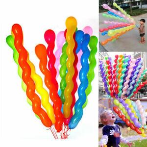10-pc-Bunte-Spirale-Latex-Luftballons-Hochzeit-Kinder-w-Party-Geburtstag-D-H4K3