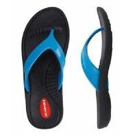 Okabashi Women's Marina Flip-flops, Black/turquoise - Multiple Sizes Available