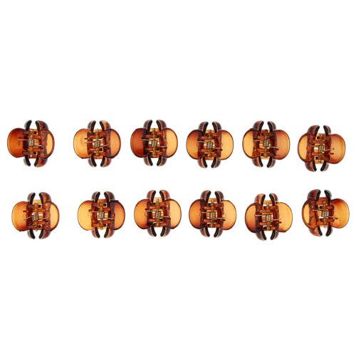 12x Kleine Haarspangen Mini Haargreifer Haarzwicker Haarklammer Klaue Clips