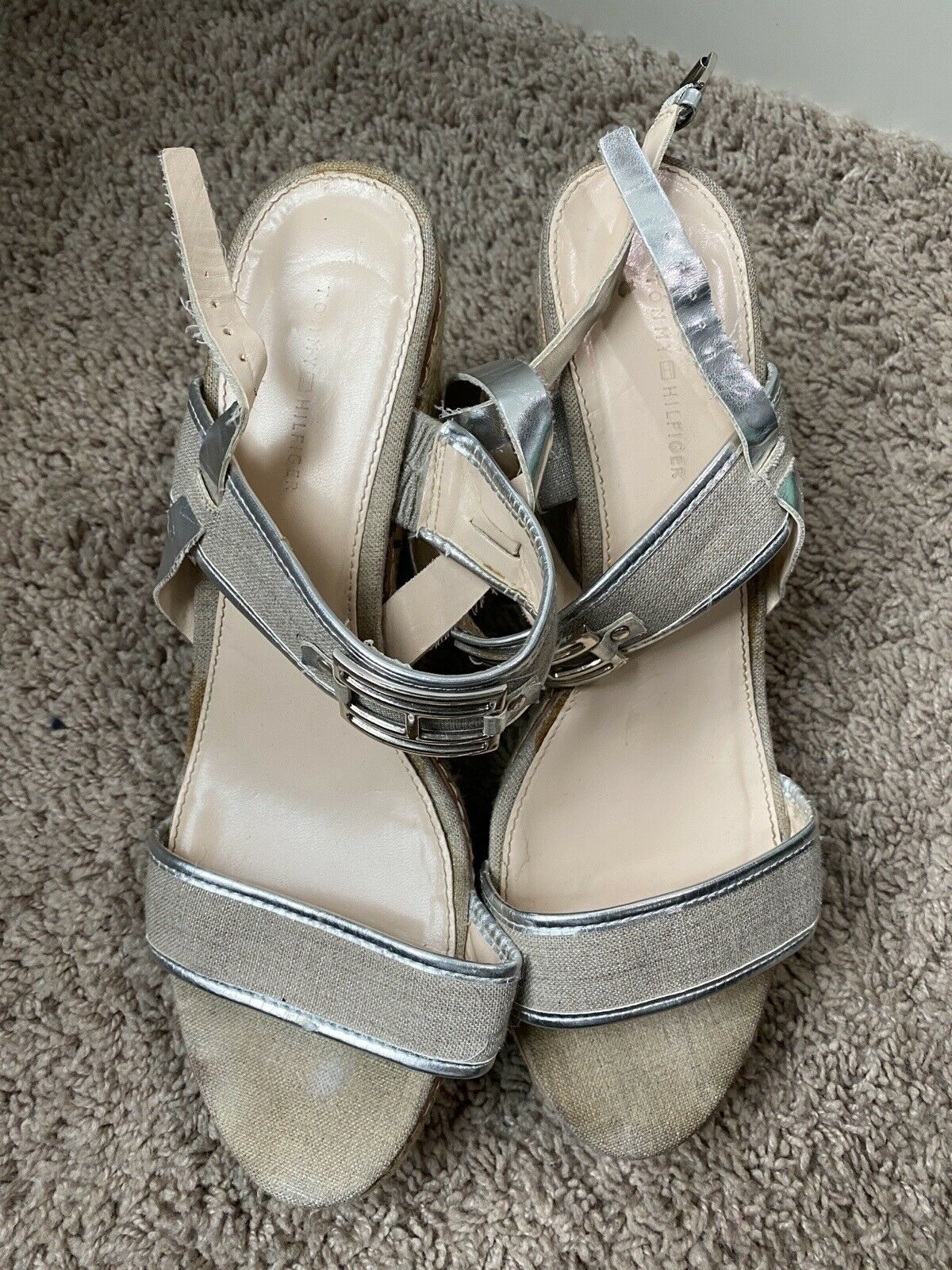 Womens Tommy hilfiger wedges size 10 - image 3