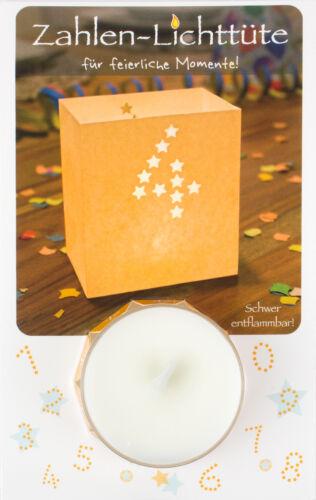 Geschenk-Idee Geburtstag Happy Birthday Tisch-Deko Teelicht Zahlen-Lichttüte 4