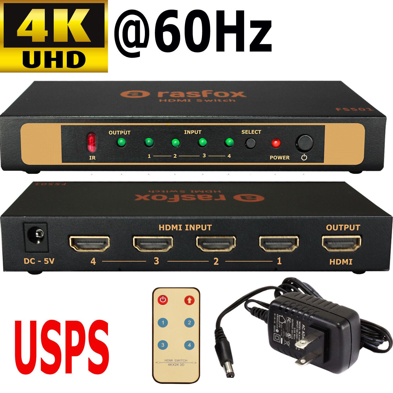 EnKo Selector Switch Boxes V1.4 HDMI Splitter 1x2 Ports Powered Amplifier Full