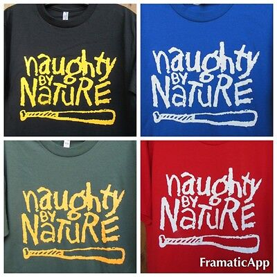 Naughty By Nature Logo T-Shirt  ATL 90s Hip Hop T.I Rap West East Coast