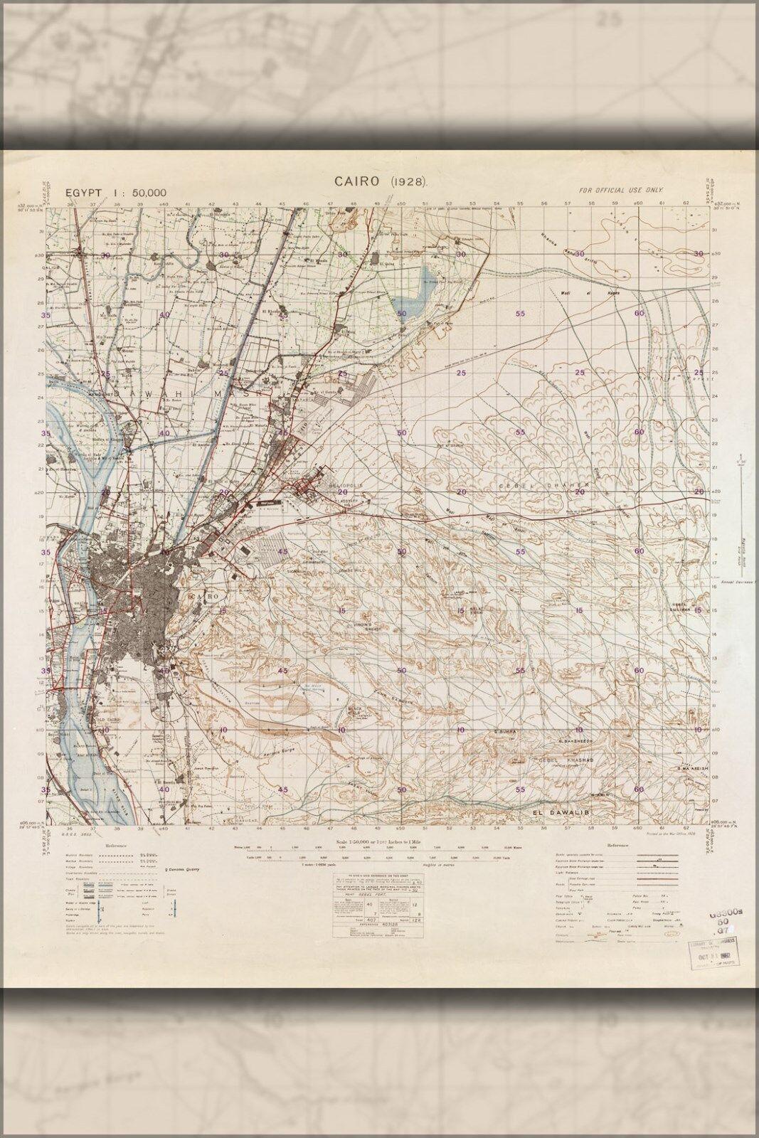 Poster, Molte Misure; Mappa Del il Cairo