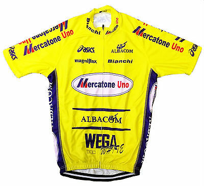 MERCATONE UNO RETRO VINTAGE CYCLING TEAM BIKE JERSEY - Marco Pantani ... c52099962