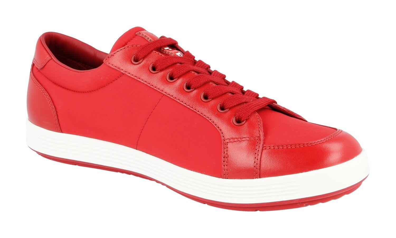 LUXUS PRADA SNEAKER Zapatos 4E2939 4E2939 4E2939 ROT NEU NEW 7,5 41,5 42 eb1738
