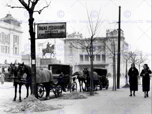 BELGRADE VINTAGE HISTORY OLD BW PHOTO PRINT POSTER 167BWB
