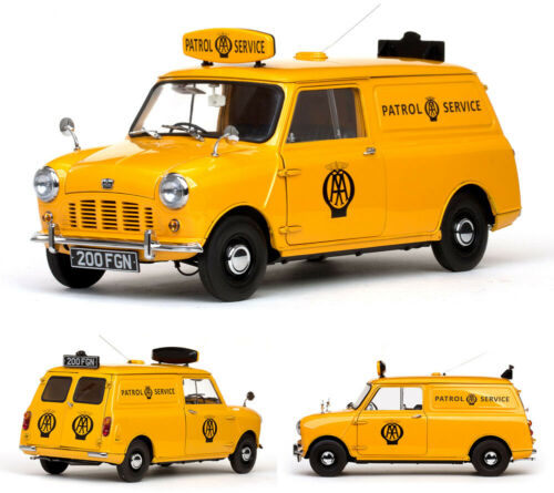 1963 Austin Mini AA Patrol Service Van gelb yellow Minivan 1:12 Sun Star 5318