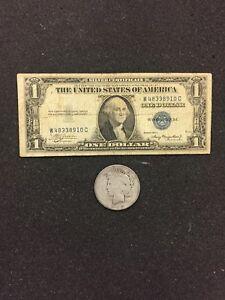 1935-Silver-Certificate-amp-PEACE-SILVER-DOLLAR-90-SILVER