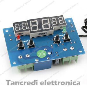 Modulo Termostato Digitale W1401 Dc 12v Regolatore Di Temperatura Con Sonda Ntc RafraîChissant Et BéNéFique Pour Les Yeux