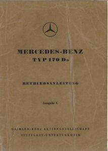 MERCEDES-Typ-170-Da-Betriebsanleitung-1951-Bedienungsanleitung-Handbuch-BA